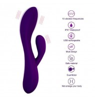 Dual Powerful Rabbit Vibrator Silicone Clitoris Stimulator Vagina Massager G Spot Vibrator Adult Sex Toys For Woman Masturbation