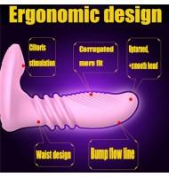 Telescopic Heating G spot Dildo Vibrator Female Clitoris Stimulator Stretch Wearable Vibrator Remote Control Sex Toys For Woman