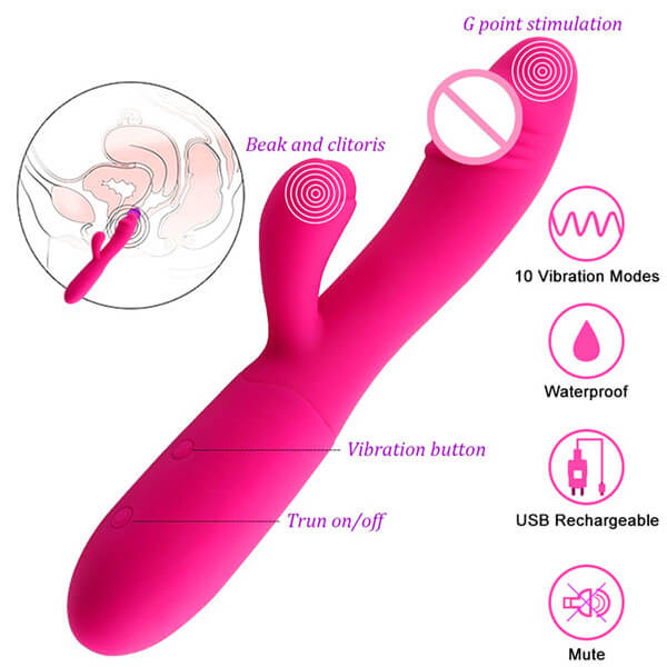 Double-Motor-Strong-Vibrating-Stimulator-G-spot-Vibrator--Smooth-Silicone--Simul