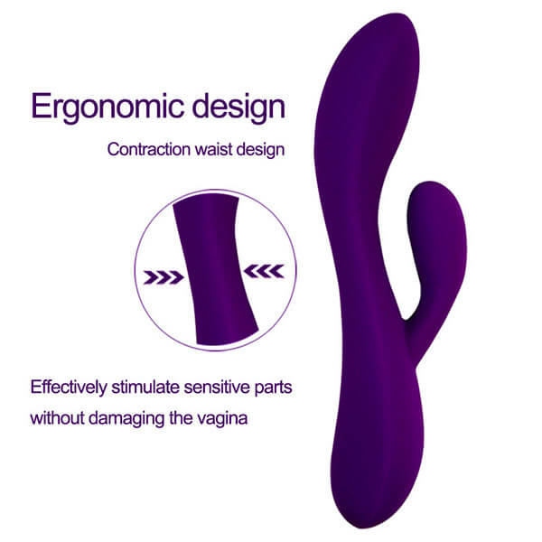 Dual-Powerful-Rabbit-Vibrator-Silicone-Clitoris-Stimulator-Vagina-Massager-G-Spo